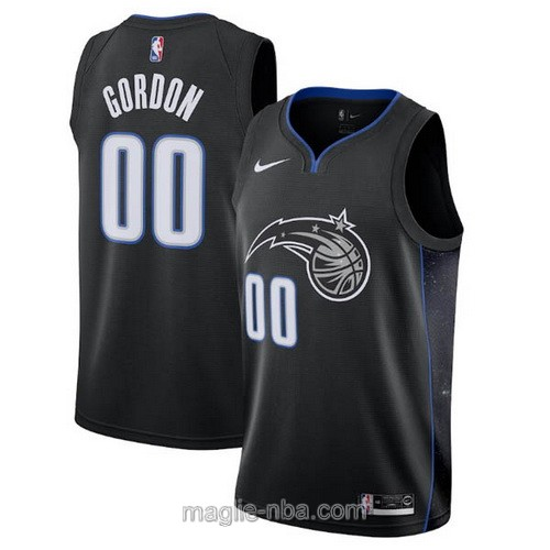 Maglia nba City Edition Nike Orlando Magic #00 Aaron Gordon 2019 nero