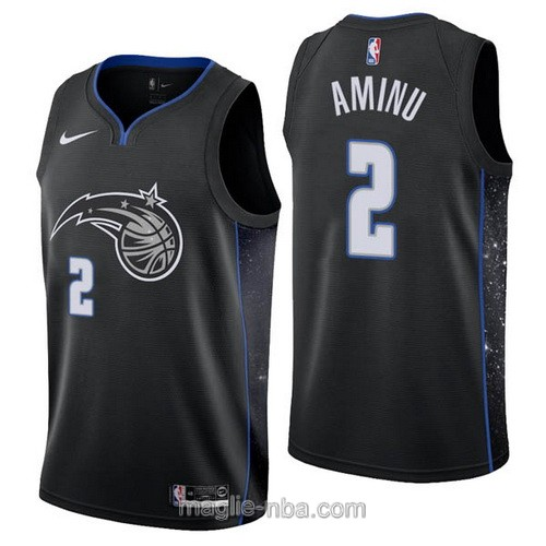 Maglia nba City Edition Nike Orlando Magic #2 Al-Farouq Aminu 2019 nero