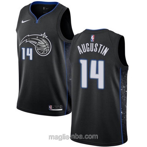 Maglia nba City Edition Nike Orlando Magic #14 D.J. Augustin 2019 nero