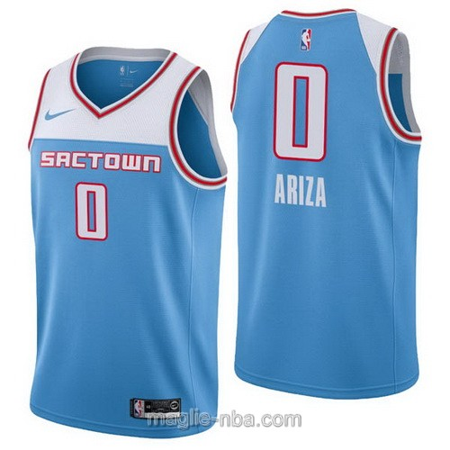Maglia nba City Edition Nike Sacramento Kings #0 Trevor Ariza 2019 blu