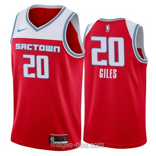 Maglia nba City Edition Nike Sacramento Kings #20 Harry Giles 2019-20 rosso