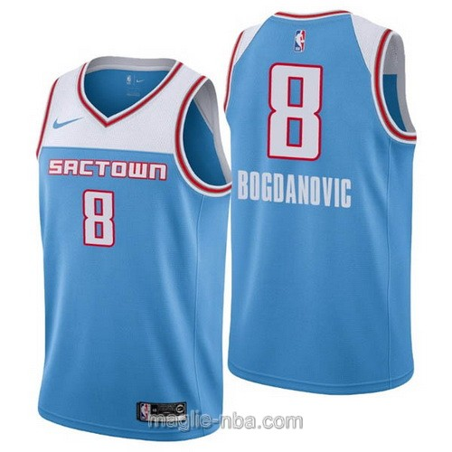 Maglia nba City Edition Nike Sacramento Kings #8 Bogdan Bogdanovic 2019 blu
