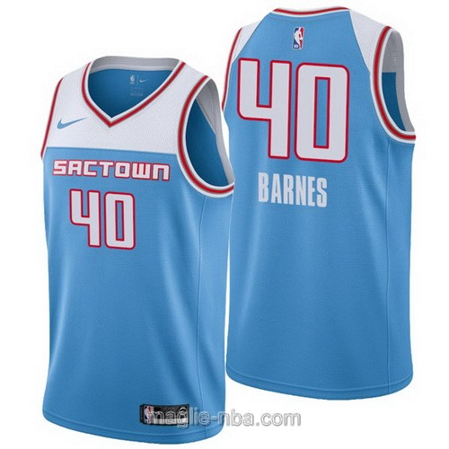 Maglia nba City Edition Nike Sacramento Kings #40 Harrison Barnes 2019 blu