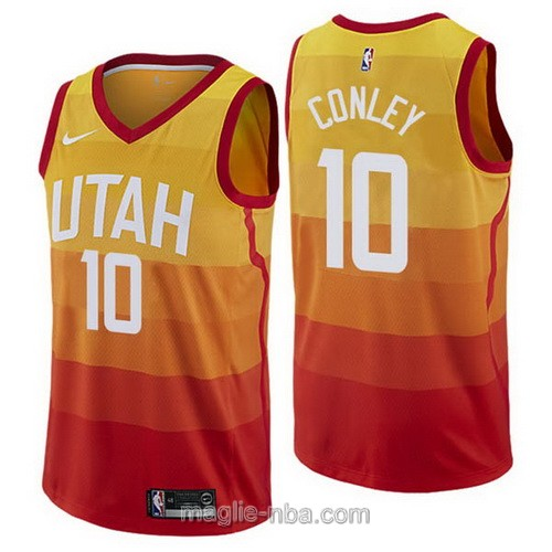 Maglia nba City Edition Nike Utah Jazz #10 Mike Conley 2019 arancione