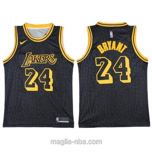 Maglia nba City Los Angeles Lakers #24 Kobe Bryant nero