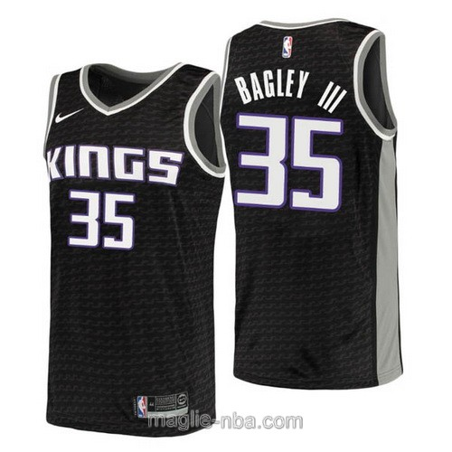 Maglia nba City Sacramento Kings #35 Marvin Bagley III 2018 2019 nero