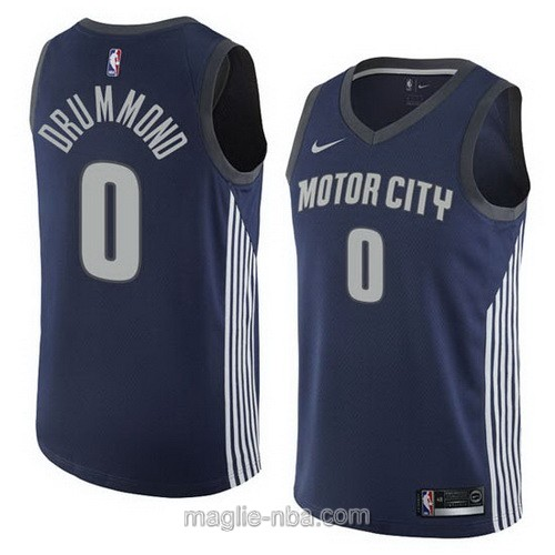 Maglia nba City Swingman Detroit Pistons #0 Andre Drummond 2018 blu scuro