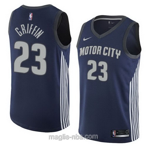 Maglia nba City Swingman Detroit Pistons #23 Blake Griffin 2018 blu scuro