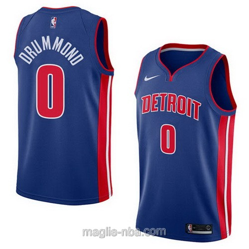 Maglia nba City Swingman Detroit Pistons #0 Andre Drummond 2018 blu