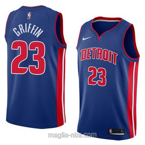 Maglia nba City Swingman Detroit Pistons #23 Blake Griffin 2018 blu