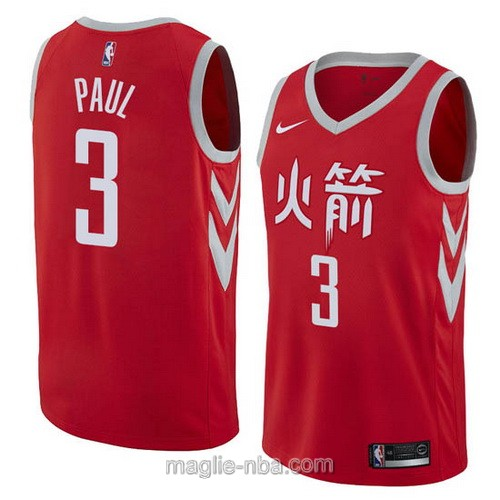 Maglia nba City Swingman Houston Rockets #3 Chris Paul 2018 rosso