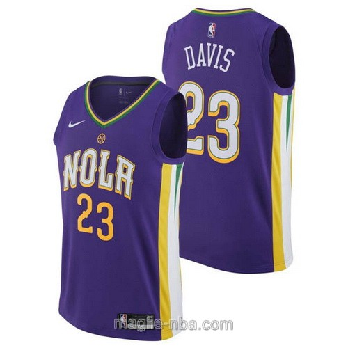Maglia nba City Swingman New Orleans Pelicans #23 Anthony Davis 2018 porpora