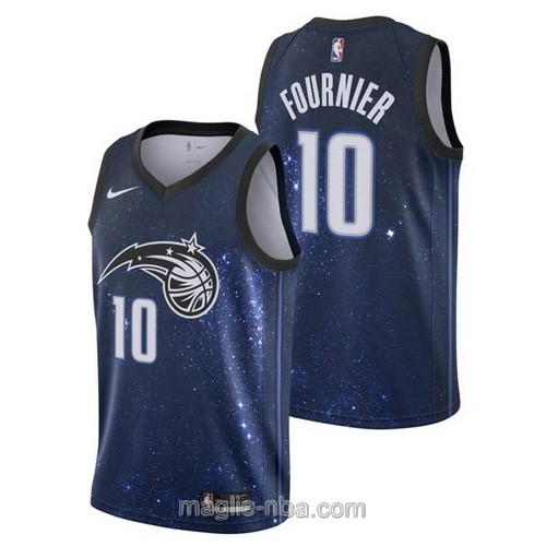Maglia nba City Swingman Orlando Magic #10 Evan Fournier 2018 blu stellato