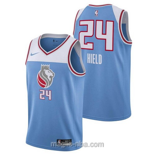Maglia nba City Swingman Sacramento Kings #24 Buddy Hield 2018 blu