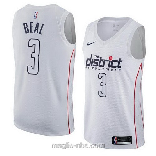 Maglia nba City Swingman Washington Wizards #3 Bradley Beal 2018 bianco