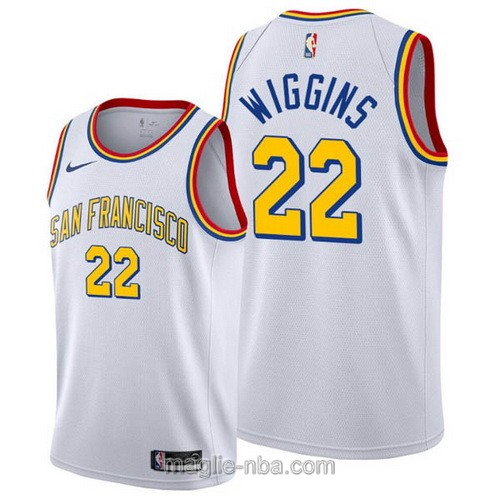 Maglia nba Classic Edition Nike Golden State Warriors #22 Andrew Wiggins 2020 bianco
