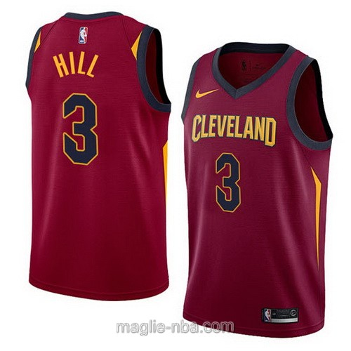 Maglia nba Cleveland Cavaliers #3 George Hill 2017 2018 rosso