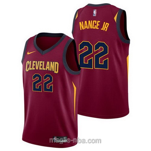 Maglia nba Cleveland Cavaliers #22 Larry Nance Jr. 2017 2018 rosso