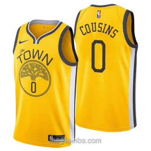 Maglia nba Earned Edition Nike Golden State Warriors #0 DeMarcus Cousins 2019