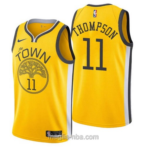 Maglia nba Earned Edition Nike Golden State Warriors #11 Klay Thompson 2019