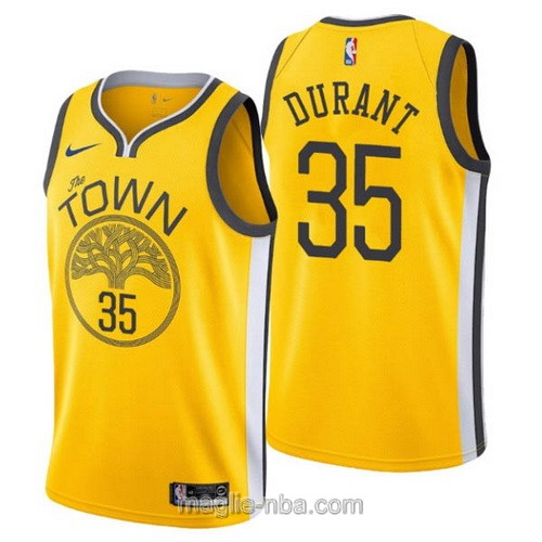 Maglia nba Earned Edition Nike Golden State Warriors #35 Kevin Durant 2019