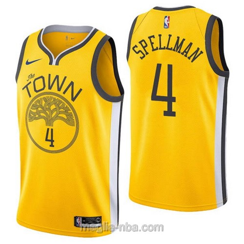 Maglia nba Earned Edition Nike Golden State Warriors #4 Omari Spellman 2019