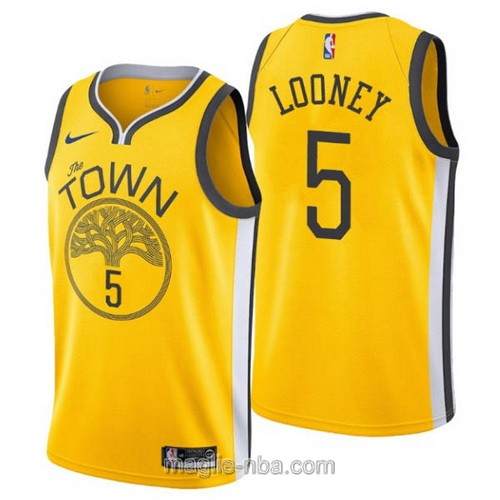 Maglia nba Earned Edition Nike Golden State Warriors #5 Kevon Looney 2019