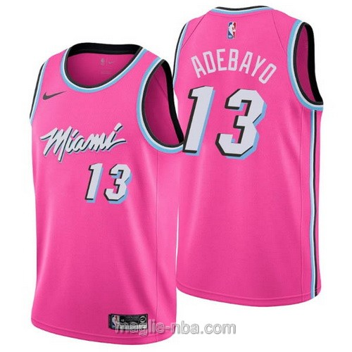Maglia nba Earned Edition Nike Miami Heat #13 Bam Adebayo 2019