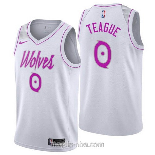Maglia nba Earned Edition Nike Minnesota Timberwolves #0 Jeff Teague 2019