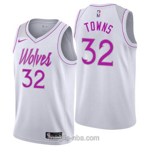 Maglia nba Earned Edition Nike Minnesota Timberwolves #32 Karl-Anthony Towns 2019