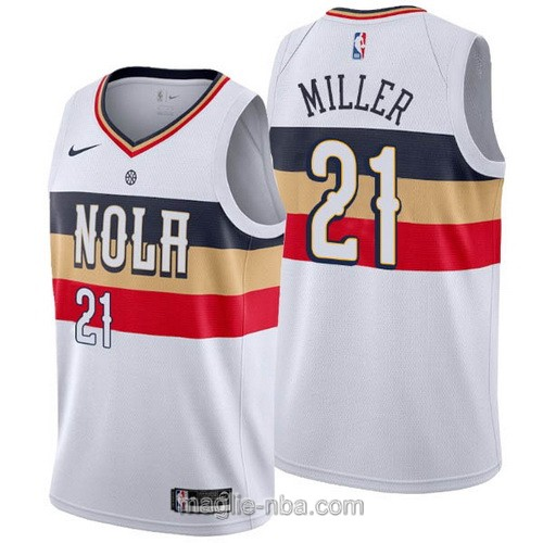 Maglia nba Earned Edition Nike New Orleans Pelicans #21 Darius Miller 2019