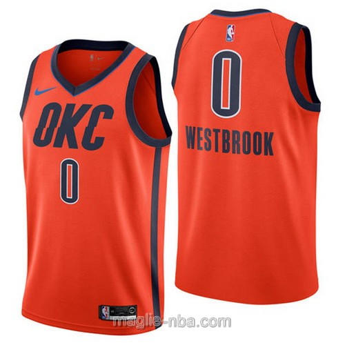 Maglia nba Earned Edition Nike Oklahoma City Thunder #0 Russell Westbrook 2019
