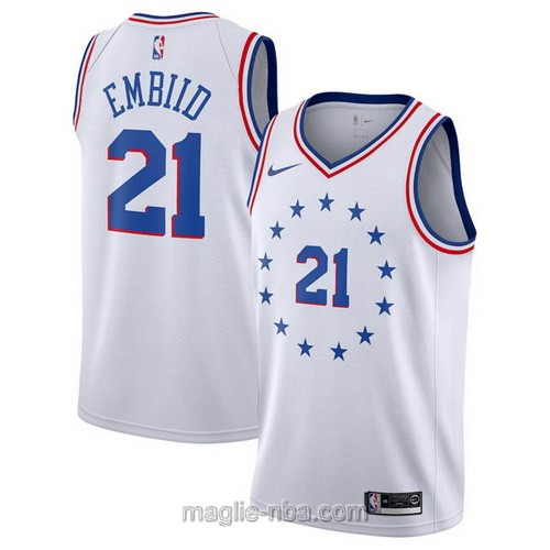 Maglia nba Earned Edition Nike Philadelphia 76ers #21 Joel Embiid 2019