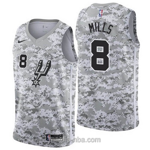 Maglia nba Earned Edition Nike San Antonio Spurs #8 Patty Mills 2019
