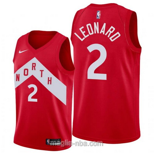 Maglia nba Earned Edition Nike Toronto Raptors #2 Kawhi Leonard 2019