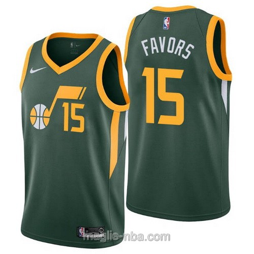 Maglia nba Earned Edition Nike Utah Jazz #15 Derrick Favors 2019