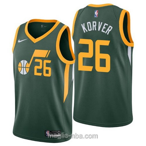 Maglia nba Earned Edition Nike Utah Jazz #26 Kyle Korver 2019