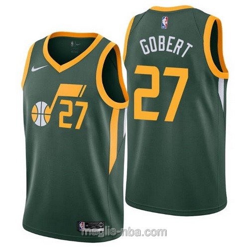 Maglia nba Earned Edition Nike Utah Jazz #27 Rudy Gobert 2019