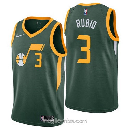 Maglia nba Earned Edition Nike Utah Jazz #3 Ricky Rubio 2019