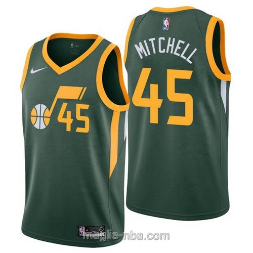 Maglia nba Earned Edition Nike Utah Jazz #45 Donovan Mitchell 2019