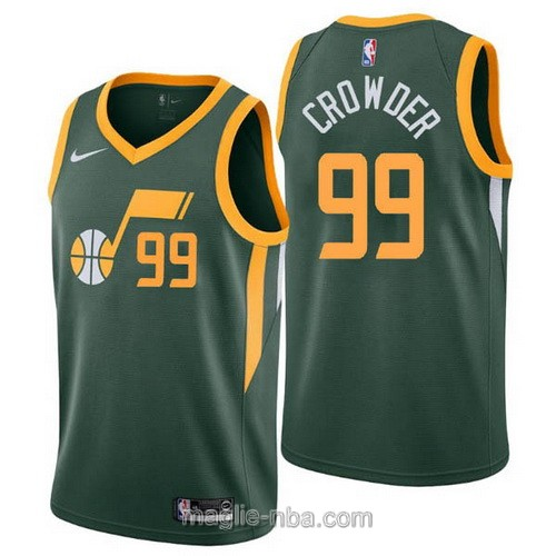 Maglia nba Earned Edition Nike Utah Jazz #99 Jae Crowder 2019