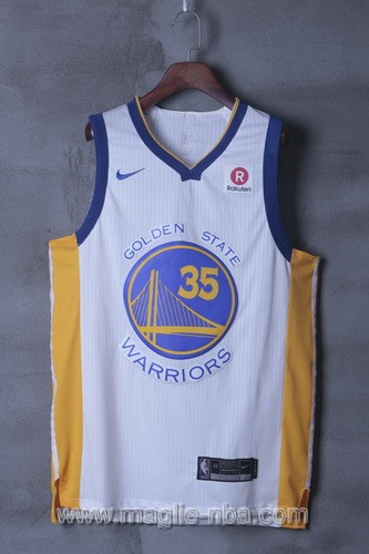 Maglia nba Golden State Warriors Kevin Durant #35 2017 2018 bianco