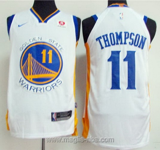 Maglia nba Golden State Warriors #11 Klay Thompson 2017 2018 bianco