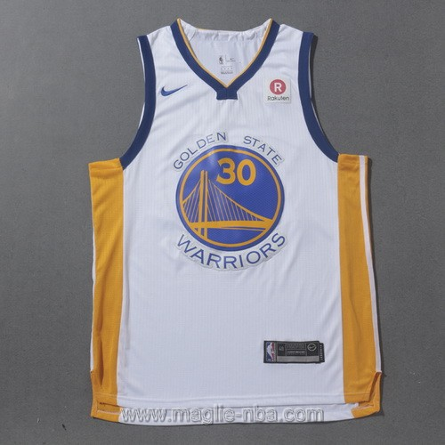 Maglia nba Golden State Warriors Stephen Curry #30 2017 2018 bianco