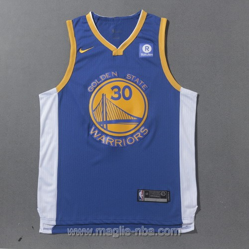 Maglia nba Golden State Warriors Stephen Curry #30 2017 2018 blu