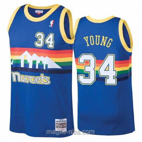 Maglia nba Hardwood Classics Nike Denver Nuggets #34 Nick Young blu