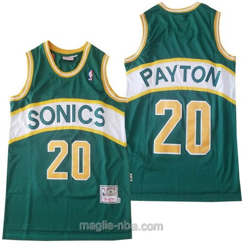 Maglia nba Hardwood Classics Seattle SuperSonics #20 Gary Payton verde