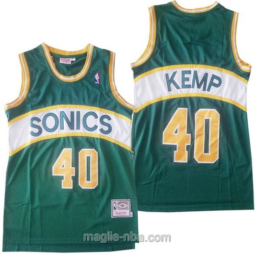 Maglia nba Hardwood Classics Seattle SuperSonics #40 Shawn Kemp verde