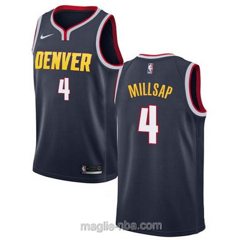 Maglia nba Icon Edition Nike Denver Nuggets #4 Paul Millsap