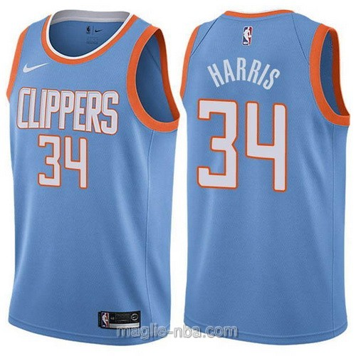 Maglia nba Los Angeles Clippers #34 Tobias Harris blu